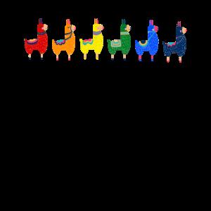 LGBT Regenbogen Lama Alpaka Gay Pride Homo