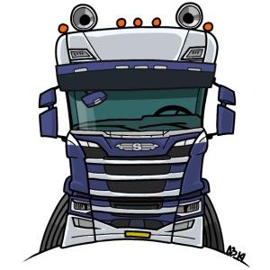 0814 S truck blauw wit
