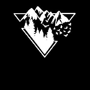 Natur Dreieck Berge Wald Typ 1h