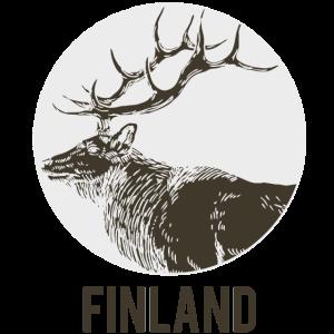 finnland hirsch zeichenfläche 1