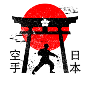 Vintage Japan Kampfsport Design Karate