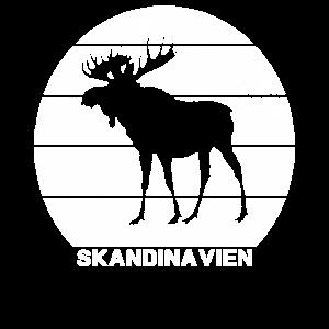 Elch, Skandinavien, Vintage, Norwegen Geschenk