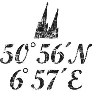 Kölner Dom Koordinaten Köln (Vintage Schwarz)