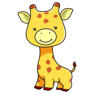 Baby Giraffe Süße Tiere Geschenk Niedlich