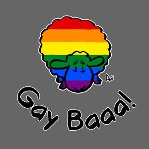 Homofil Baaa! Rainbow Pride Sheep (svart utgave)