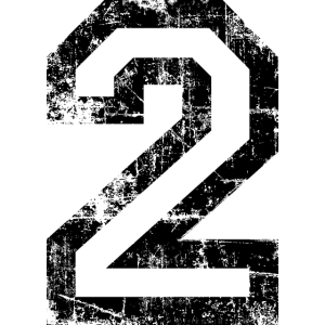 Zahl 2 Nummer Zwei 2. Geburtstag Zweiter