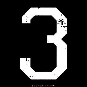 Zahl 3 Nummer Drei 3. Geburtstag Dritter