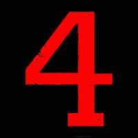 Zahl 4 Nummer Vier 4. Geburtstag Vierter
