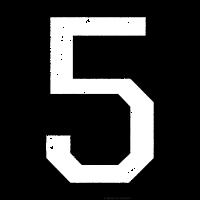 Zahl 5 Nummer Fünf 5. Geburtstag Fünfter