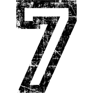 Zahl 7 Nummer Sieben 7. Geburtstag Siebter