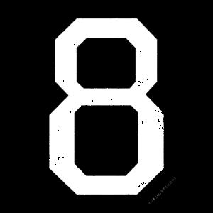 Zahl 8 Nummer Acht 8. Geburtstag Achter