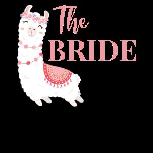 Braut Bride to be Alpaka Lama JGA Hochzeit