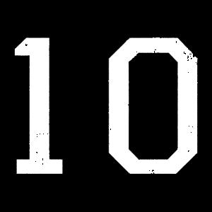 Zahl 10 Nummer Zehn 10. Geburtstag Zehnter