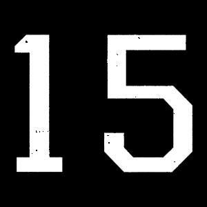 Zahl 15 Nummer Fünfzehn 15. Geburtstag Fünfzehnter