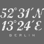 Berliner Koordinaten (Vintage Weiß) Berlin