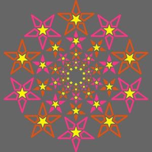 fractal estrella 3 color neón