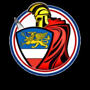Rostock Schwertkämpfer mit Schild - Design
