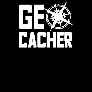 Geocaching Kompass Geocacher Nerd Geschenk