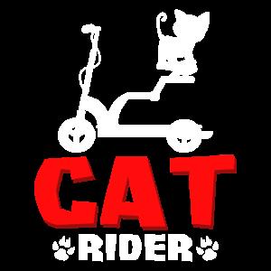 Elektro Roller E-Roller Katze Cat Rider Geschenk