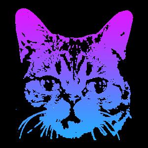 Katzen 3D Design Geschenk Motiv T-Shirt