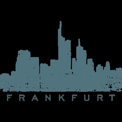 Frankfurt Skyline Vintage Blaugrün - Frankfurt am Main Design mit der Frankfurter Skyline. - wolkenkratzer,manhattan,mainhattan,hochhäuser,grafitti,frankfurter skyline,frankfurt am main,ffurt,ffh,f'furt,cool,cool,comic,bankenviertel