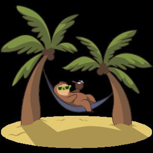 Faultier chillen insel palmen