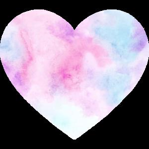Herz Wasserfarben Pink