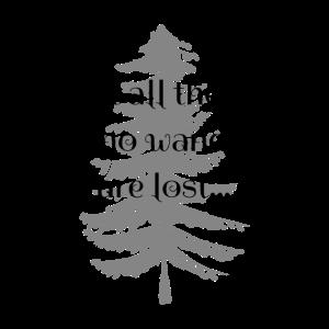 Cooles Wander Design Gedicht von Tolkien Dunkel