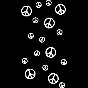 viele Friedenszeichen - Peace!