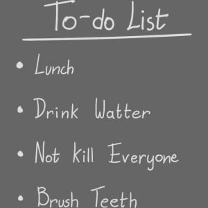 To do list white
