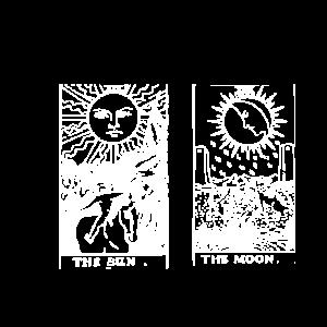 Sonne und Mond Tarot Gegensätze Hell