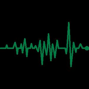Kurve Herzschlag Rhythmus Oszillograph Puls EKG