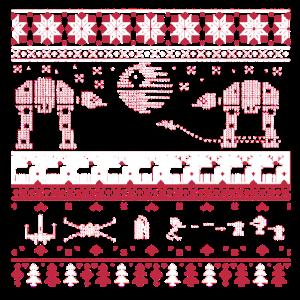 Hässliches Weihnachtsrotes Schneeflocke-Baum-Ren