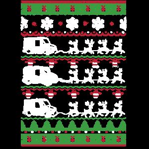 Hässlicher Weihnachtspostmann-Ren-Pferdeschlitten
