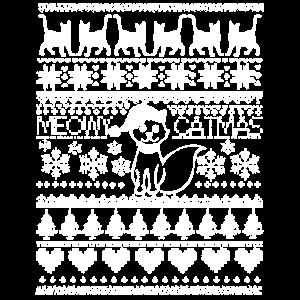 Hässliches Weihnachten Meowy Catmas Cat Meow