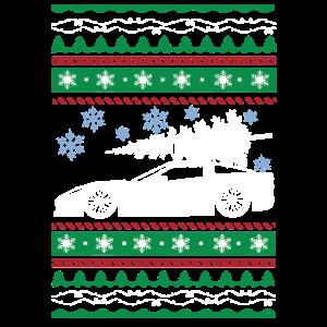 Hässliches Weihnachtsbaum-Schneeflocke-Auto