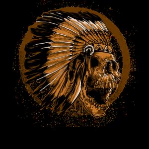 Skull Metal Rock Indianer