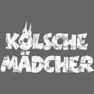 Kölsche Mädcher (Vintage Weiß) Mädchen aus Köln