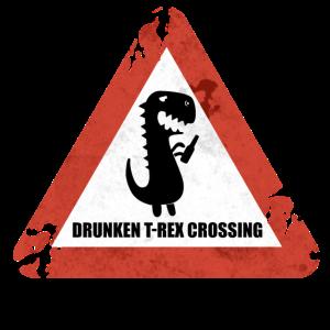 Warndreieck Dino Dinosaurier T-Rex Tyrannosaurus