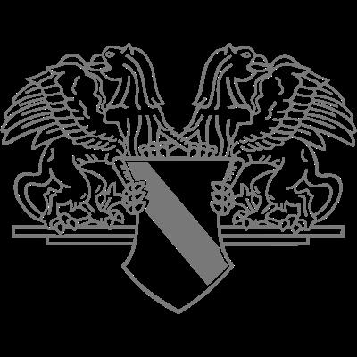 Badenwappen einfarbig - Gelb-rotes Badenwappen mit den Greifen rechts und links. - Wappentier,Wappen,Taubergrund,Schwarzwald,Rheinebene,Pforzheim,Ortenau,Odenwald,Markgräflerland Wiesental,Mannheim,Linzgau,Kraichgau,Karlsruhe,Kaiserstuhl,Hotzenwald,Hochrhein,Herzogtum,Heidelberg,Freiburg,Bundesland,Breisgau,Bodensee,Baden,Albgau