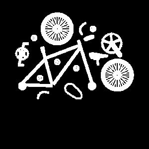 Fahrrad Teile Anatomie