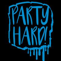 cool party hard graffiti design