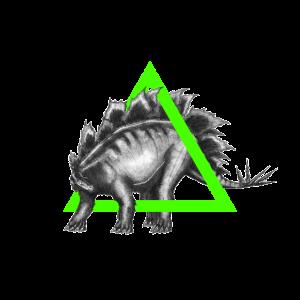 Der Stegosaurus im Dreieck - Illustration