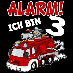 Feuerwehrauto 3 Jahre Geburtstag Jungen