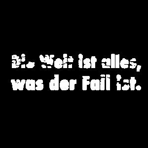Die Welt ist alles, was der Fall ist. Wittgenstein