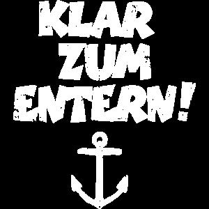 Klar zum Entern Segel Design (Vintage/Weiß)