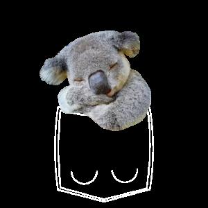Koala Bär in Brusttasche Hemdtasche