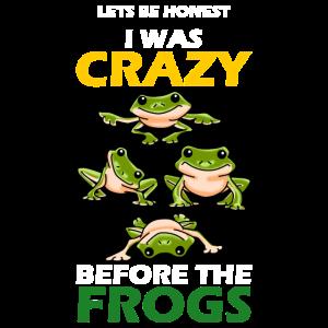 Frosch Liebhaber Tier Amphibie Wortspiel Geschenk
