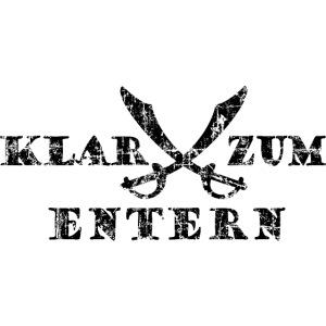 Klar zum Entern Piraten Säbel Vintage Schwarz