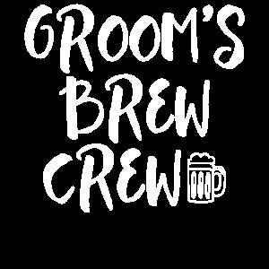 Bräutigam Brew Crew Junggesellenabschied